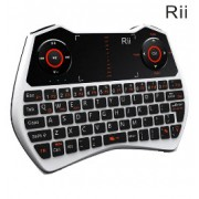 Rii i28C Mini Wireless Qwerty Touchpad Keyboard White