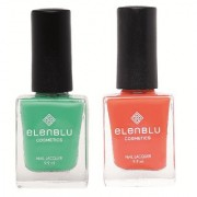 Allure and Roseate Blush 9.9ml Each Elenblu Matte Nail Polish Set of 2 Nail Polish