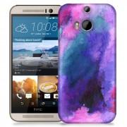 HTC Skal till HTC M8 - Vattenfärg - Lila