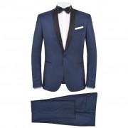 vidaXL Smoking de soirée 2 pièces Taille 50 Bleu marine