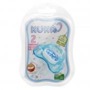 Chupeta Kuka Color Ortodôntica Decorada Azul R-2066