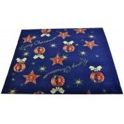 Tappeto di Natale blu ADDOBBI NATALIZI passatoia 97x100 cm. B3