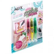 Alex Toys Spa Glitter Sketch it Nail Pens, Multi Color
