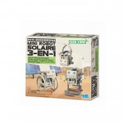 Kit De Fabrication Green Science : Mini Robot Solaire 3 En 1
