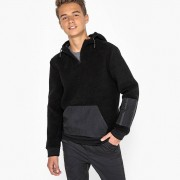 La Redoute Collections Sweat grossa, em polar, com capuz, 10-16 anospreto- 15/16 ANOS (174 cm)