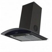 Faber Feel Plus SS TC LTW 60 Kitchen Chimney Wall Mounted Chimney(Black 1000)
