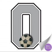 "Wall Number ""0"" Soccer Ball Jersey Numbers Varsity Uniform Vinyl Sticker Decals Childrens Room Decor Baby Nursery boy Sport Bedroom Team Stickers kid Sports Decorations Balls Decal Mural Graphics Girl"