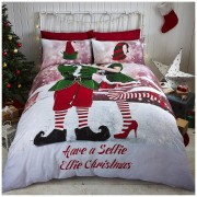 Catherine Lansfield Selfie Elfie Bedding Set - Multi - Double - Multi