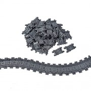 50X Flexible Tracks Railroad Train Track Non-Powered Rail Compatible With Lego Construction Toy