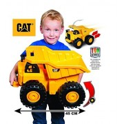 SG-Dump Truck - CAT Caterpillar ( Cat) - wheels Sound Construction Machines - Push Power Big Rev-up Dump Truck - with 2