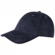 Cappellishop Basic Corduroy Baseball Cap in blu, Gr. One Size