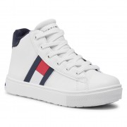 Сникърси TOMMY HILFIGER - High Top Lace-Up Sneaker T3B4-30925-1031100 M White 100