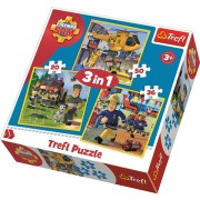 Puzzle Pompierul Sam 3 in 1 - 20, 36 si 50 piese