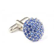 Mousie Bean Crystal Cufflinks Paved Round 118 Sapphire