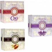 Pachet 3 sapunuri Thalia Natural Beauty Sapun cu lavanda 150g + Sapun cu coenzima Q10 150g + Sapun cu ulei de argan 150g