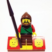 "Minifigure Packs: Lego Castle Dark Forest Bundle ""(1) Forestman Raider"" ""(1) Figure Display Base"" ""(1) Figure Accessory"""