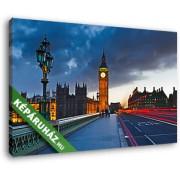 A Big Ben este, a Westminster hídról nézve (40x25 cm, Vászonkép )