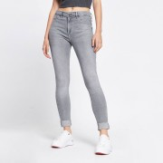 river island Womens Grey molly mid rise turn up denim jeans (18L)