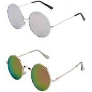 Amour-Propre Aviator Sunglasses(Silver, Golden)
