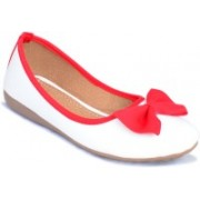 Myra Red Bow Bellies For Women(Red)