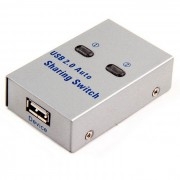 Cwxuan USB 2.0 Sharing Switch Hub / 2 PC a 1 impresora / escaner Comparticion de red Switcher Box - Plata