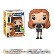 Amy Pond (2018 Spring Con Exclusive): Funko POP! TV x Doctor Who Vinyl Figure + 1 TV Themed Trading Card Bundle