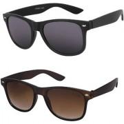 Meia (BWyrBLKBRWN) Combo of Black and Brown Wayfarer Sunglasses