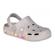 COQUI FROGGY Dětské sandály 8802-576 Khaki grey hearts 2829