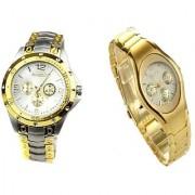 Rosra Golden- Silver Men And Rosra Gold Ledish Watches For Men Women