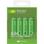 Gp Batteries Blister 4 Batterie Ricaricabili AA Stilo 2000mAh GP ReCyko