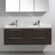 Thalassor Meuble de salle de bain double vasque TWIN bois