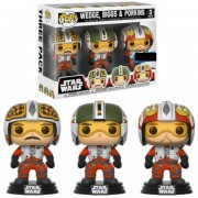 Pop! Vinyl Pack 3 Figuras Pop! Vinyl Exclusivas Pilotos Wedge, Biggs & Porkins - Star Wars