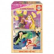 Educa Disney hercegnők puzzle, 2x50 darabos