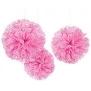 Amscan Decoración de Tela de Color Rosa Brillante y esponjosa para Bodas y Fiestas de Compromiso