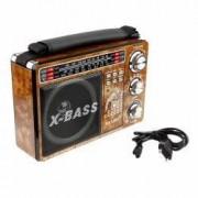 Radio Mp3 portabil vintage USB SD mufa jack acumulator Waxiba