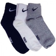 Nike Cotton Men Women Ankle Length Socks- 3 Pairs