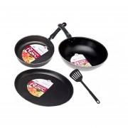Kit De 4 Piezas De Cocina Gaudix Menaje 46456-Negro