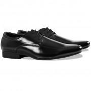 vidaXL Szmoking cipő fekete 42-es méret