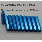 Generic Red : 20pcs RC Airplane M3*25mm Aluminium hexagonal prism with sky blue and red color Anodized Column