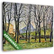 Paul Cézanne: Diófák Jas de Bouffan-ban, 1885-1886 (30x25 cm, Vászonkép )