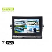 """7 """"LCD monitor s možností připojit až 4 couvací kamery"""