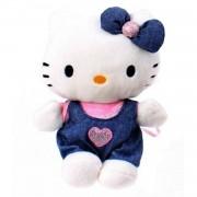 Jemini hello kitty knuffel doll pluche meisjes donkerblauw 15 cm