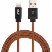 Cablu de date Tellur USB - Lightning Mfi piele naturala 1m Maro