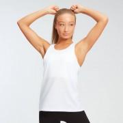 Myprotein MP dámské tréninkové tričko s vykrojenými průramky Essentials – Bílé - XS