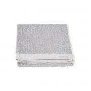 39.95 Meraki handduk, vit / grå, paket m. 2 st., 50 x 100 cm, 100% bomull
