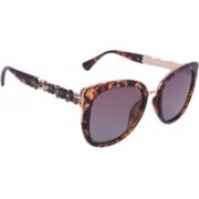Marc louis Retro Square Sunglasses(Brown)