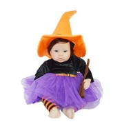 My Brittany's Purple Halloween Witch Costume For 20 Inch Dolls and Reborn Dolls,Doll Clothes Only