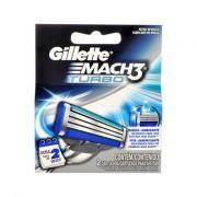 Gillette Mach3 Turbo náhradní břit 2 ks pro muže