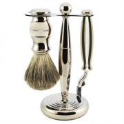 Edwin Jagger 3pc Diffusion Chrome Shaving Set Mach3 , Edwin Jagger