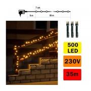 Lanț de crăciun exterior 35m 500xLED/230V alb cald IP44